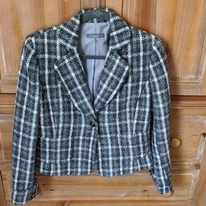 Herringbone and plaid jacket